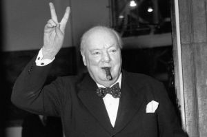 churchills v sign